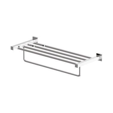 Waterplus TRK-062 Glass Shelf with Bar Rak Handuk - Chrome [500 mm]