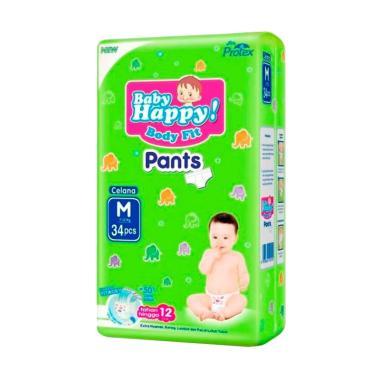1 Karton isi 4 Bag Baby Happy Body Fit Pants  [Size M/ 34 Pcs]