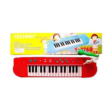 MOMO Techno Karaoke Keyboard Mainan Anak Warna Random