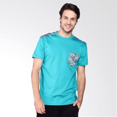 Batik Heritage T-Shirt Pria - Twigs Leaf Tosca