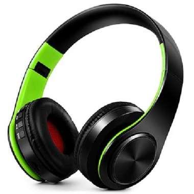harga Asli Headphone Headset Stereo Wired Wireless Bluetooth - CFKG - Hijau muda Berkualitas Blibli.com