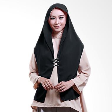 Cotton Bee Hoodie Rina Nose Jilbab Instant - Black
