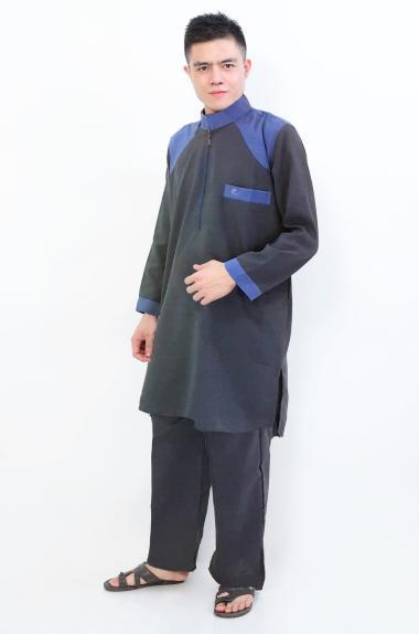 Okechuku Al-Isra Al-Thaf Setelan Gamis Pria - Abu Abu