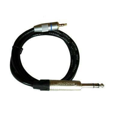 Canare L2T-2S 6.35mm Jack to Mini 3.5mm Jack Stereo Kabel Gitar [1 m]