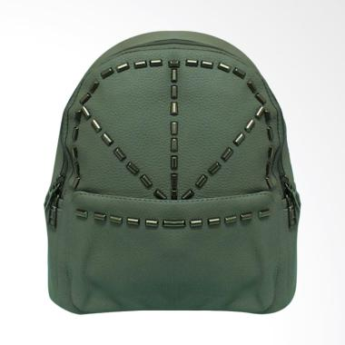 Shine Accessories TL0002 Tas Ransel Kulit Studded Backpack - Grey