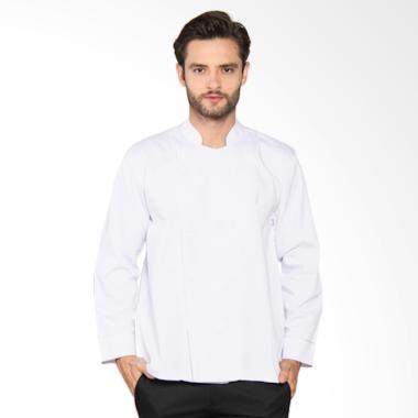 Chef Series Basic Tangan Panjang Baju Koki - Putih [Size L]