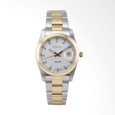 Bonia Jam Tangan Pria - Silver Gold B979-1156