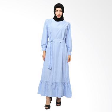 Xq Moslem Wear Melva Dress Muslim - Baby Blue