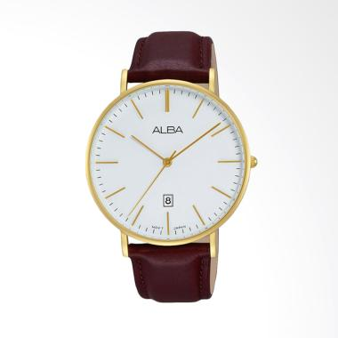 Alba AG8H16X1 Jam Tangan Analog Pria Leather Strap