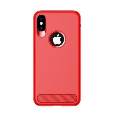 Usams Muze Series TPU Casing for Apple iPhone X 5.8 inch - Merah