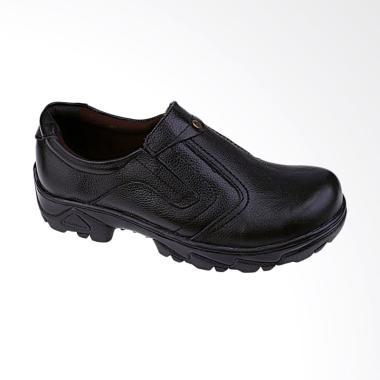 Syaqinah Safety Kulit Asli Sepatu Boots Pria - Hitam [240]