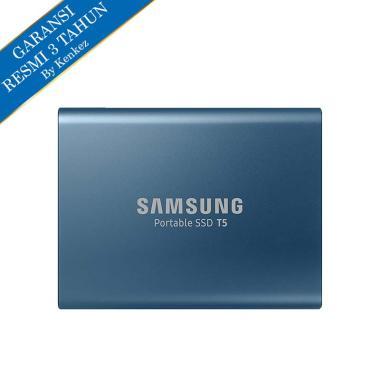 Samsung T5 Portable SSD Eksternal - Biru [500GB/USB3.1 Gen2]