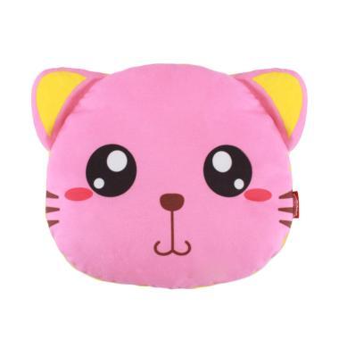 LustyBunny Cat's Head Baby Pillow Bantal Bayi - Pink