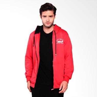 Nice To See yoU Zip Up Wicked Hoodie Jacket - Red [HDN-0013]
