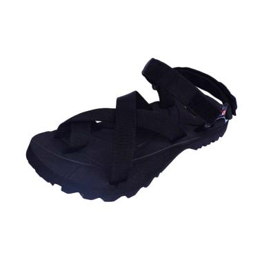 Suzuran Big Size Cross Sandal Gunung Unisex - Black [MR3]