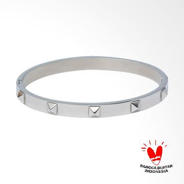 Magna Official Clavum Bangle Bracelet Gelang - White Gold