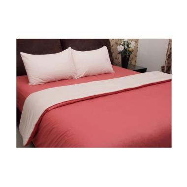 Chelsea Gold Polos Set Sprai dan Bed Cover - Peach
