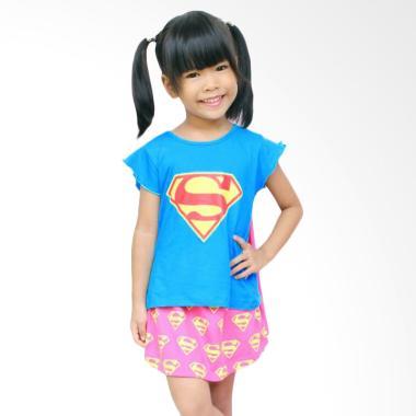 Dessan Supergirl Bersayap Baju Jumpsuit Anak with Rok