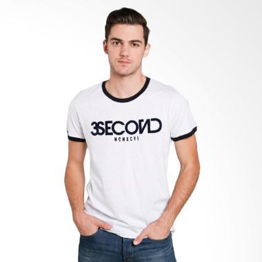 3SECOND 3612 Men Tshirt - White