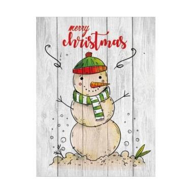 Artistic18 Wood Decoration Source · Artistic 18 Poster Kayu Solid Merry Christmas sweet snowman Hiasan Natal