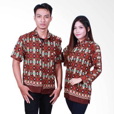 Batik Putri Ayu Solo SRB500 Batik S ... ju Batik Couple - Cokelat