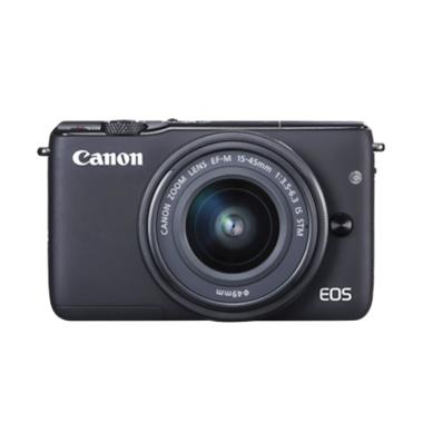 Canon EOS M100 Kamera DSLR with Lensa EF-M15-45mm - Black
