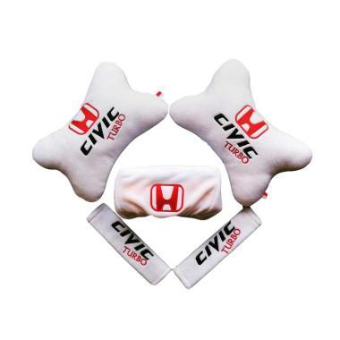 harga Indonesia Motor Motif Honda Civic Turbo 5 in 1 Set Aksesoris Interior Mobil - White Blibli.com