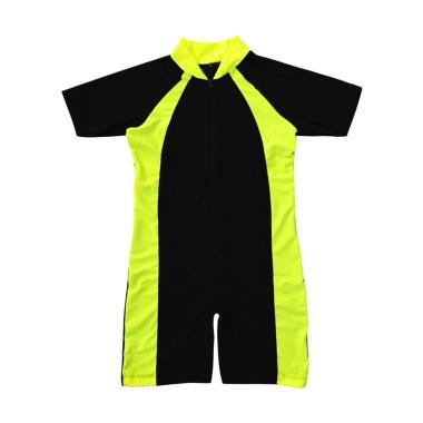 Nice Baby Baju Renang Polos Anak TK - Lime Black