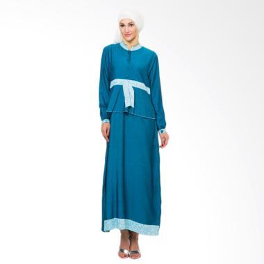 Mirtazani Habibi Zayyan Gamis Baju Muslim Wanita - Blue Coral