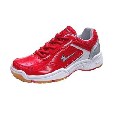 Eagle Premier Jr Sepatu Badminton Anak  - Red White