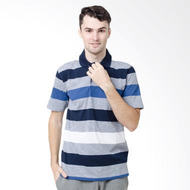 Arnett Polo Shirt Fashion Pria - Navy