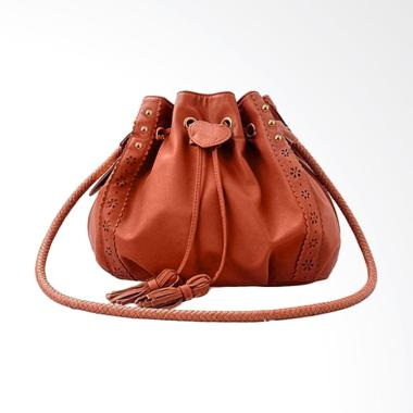 Lansdeal Lady Purse Leather Hobo Women Shoulder Bag - Brown