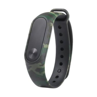 OEM Silicone Strap for Xiaomi Mi Band 2 OLED - Green Army