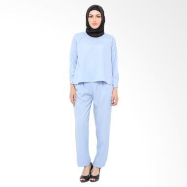 XQ Jenna Setelan Pakaian Muslim Wanita - Blue