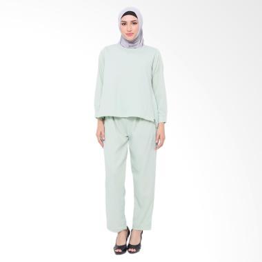XQ Jenna Setelan Pakaian Muslim Wanita - Green