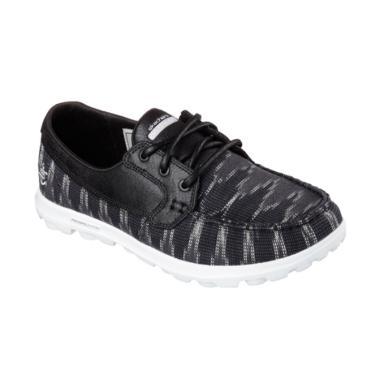Skechers On The Go Boat Shoes Sepat ... Wanita - Black [13837BKW]
