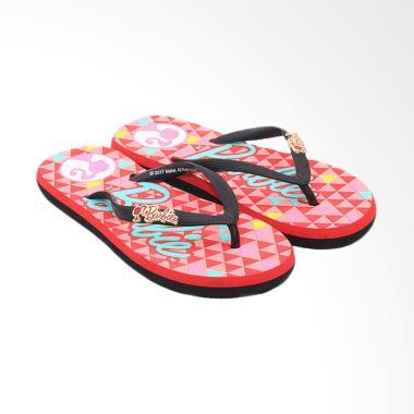 Ando Barbie 808 Sandal Jepit Wanita - Red Black