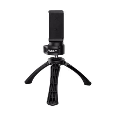 AUKEY CP-T01 Mini Tripod with Smartphone Mount Holder - Hitam