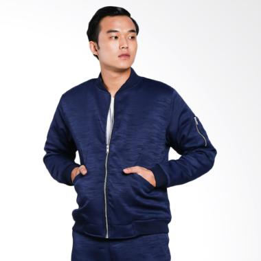 Papercut Men by Moral Bomber Jacket Pria - Navy
