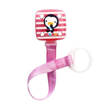 Puku Square Stripe 11114 Pacifier Chain - Pink