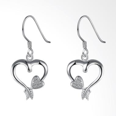 SOXY LKNSPCE803 New Exquisite Fashion Heart-Shaped Diamond Earrings