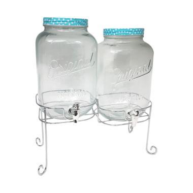 Nakami Double Decanter Juice Dispenser