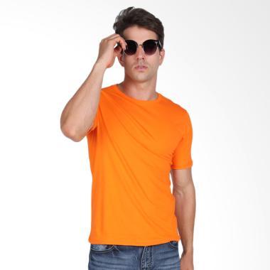 Black Liquid Kaos Pria Premium Polos Lengan Pendek - Orange
