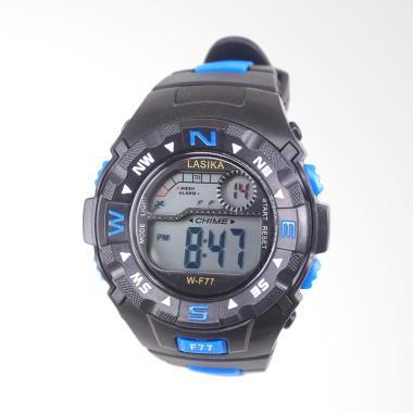 Lasika Sport Digital Jam Tangan Unisex - Black Blue [W-F 77]