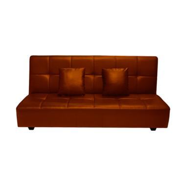 FCENTER Dahlia Sofa Bed - Dark Brown Pulau Jawa*)