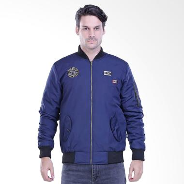 Sognoleather Outwear Male Bomber Jaket Pria - Blue [H 2083]