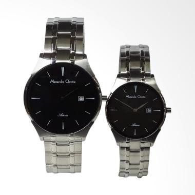Alexandre Christie Asteria Jam Tangan Couple - Silver [AC8536MD/LD]
