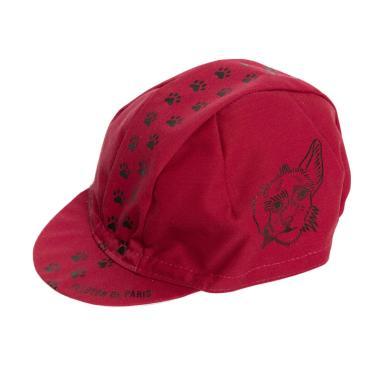 PELOTON DE PARIS Shelterdogsrock Cycling Cap - Red