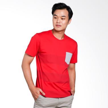 Carvil Tstripe-02 T-Shirt Pria - Red