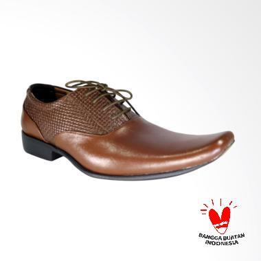 LISMEN Zumwalt Sepatu Kulit Pria - Brown [LM-7702]